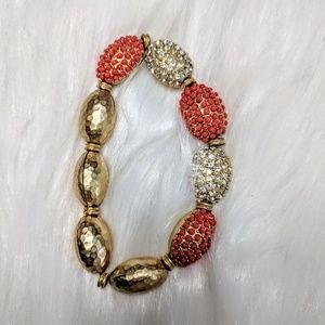 Jewelry - Brushed Gold & Rhinestone Bracelet